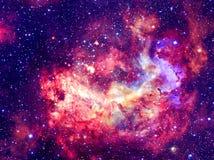Фантастическая галактика с звездами Элементы этого изображения поставленные NASA стоковое фото rf