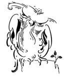 Фантастическая птица на пне Стоковое Изображение RF