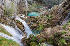 Фантастические водопады от озер национального парка Plitvice, Хорватии Стоковая Фотография