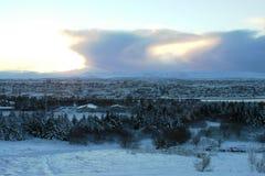Фантастические Исландия и столица Reykjavik Стоковое Фото