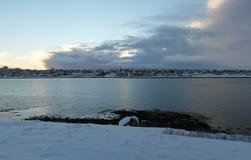 Фантастические Исландия и столица Reykjavik Стоковое Изображение