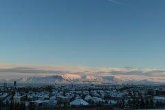 Фантастические Исландия и столица Reykjavik Стоковое фото RF