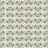 Фантастические флористические винтажные цветки безшовные иллюстрация штока