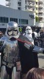 Фантастические характеры Звездных войн на Broadbeach, Квинсленде стоковые фотографии rf