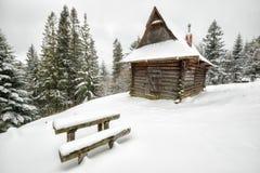 Фантастический ландшафт зимы вечера Стоковое Изображение RF