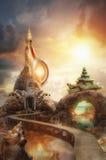 Фантастический замок стоковое фото