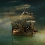 Фантастический корабль Стоковое фото RF