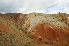 Фантастический марсианский ландшафт повреждает Красные горы Стоковое Изображение