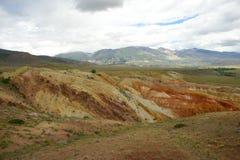 Фантастический марсианский ландшафт повреждает Красные горы Стоковые Фотографии RF
