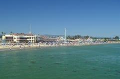Фантастический парк атракционов на пляже Santa Cruz 2-ое июля 2017 Отдых праздников перемещения Стоковое Фото