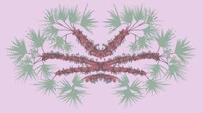 Фантастический пинк palmetto, oniric ландшафт Стоковое Фото