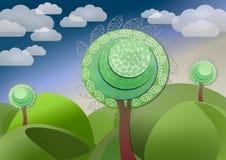 Фантастическое дерево сказки Стоковая Фотография