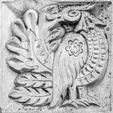 Фантастичная птица, барельеф Стоковое Изображение