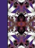 Фантастичная openwork картина в форме снежинок или шнурка Стоковые Изображения RF