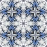 Фантастичная openwork картина в форме снежинок или шнурка Стоковая Фотография RF