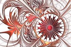 Фантастичная openwork картина в форме снежинок или шнурка Стоковое Изображение
