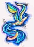 Фантастичное сновидение sunbird иллюстрация вектора