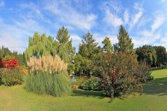 Фантастично красивейший парк в северной Италии стоковое изображение rf