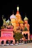 Фантастичные цвета собора ` s базилика St на красной площади Стоковая Фотография RF