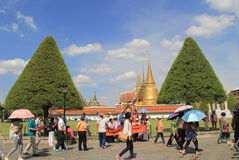 Фантастичный грандиозный дворец и Wat Phra Kaeo - Бангкок Стоковое Изображение RF