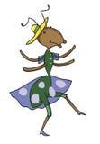 Фантастичный муравей танцует Иллюстрация штока