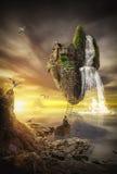 Фантастичный остров иллюстрация штока