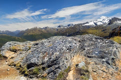 Фантастичный пейзаж в Новой Зеландии Стоковые Изображения RF