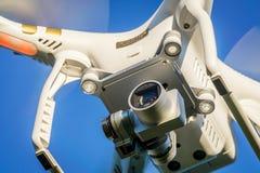 Фантомный трутень с конспектом камеры Стоковые Изображения RF