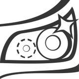 Фара автомобиля - ослепите блеск бесплатная иллюстрация