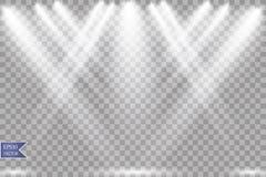 Фара вектора Световой эффект иллюстрация штока
