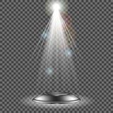 Фара вектора Световой эффект Стоковое Изображение