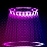 Фара вектора Световой эффект Стоковая Фотография RF