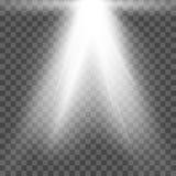 Фара вектора Световой эффект Стоковые Фотографии RF