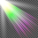 Фара вектора Световой эффект Стоковые Фото