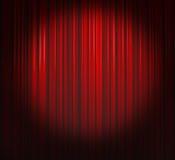 фара занавеса глубоко - красная Стоковые Фотографии RF