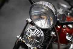 Фара и рожок мотоцикла стоковое фото