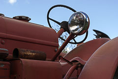 Фара на тракторе Стоковое фото RF