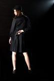 Фара оружия девушки фильма noir Стоковые Изображения