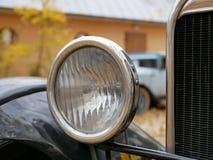 Фара ретро автомобиля стоковая фотография rf
