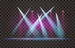 Фара светового эффекта вектора с прозрачной предпосылкой иллюстрация штока