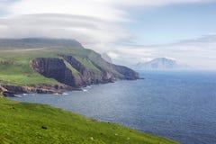 Фарерские острова благоустраивают в лете Стоковое Изображение RF