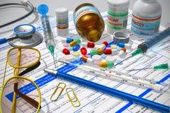 фармация принципиальной схемы медицинская Стоковое фото RF