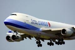 фарфор груза 747 авиакомпаний Стоковое фото RF