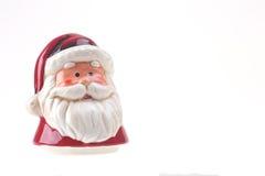 Фарфор красный Санта Клаус изолировал стоковая фотография rf