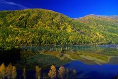 Фарфор озера Kanas Стоковая Фотография