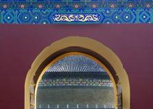 фарфор Пекин детализирует висок рая строба Стоковые Фотографии RF