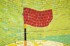 Фарфор соединяет предпосылку мозаики с формой флага стоковое изображение