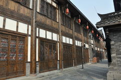 фарфор chengdu расквартировывает старый городок стоковые фотографии rf