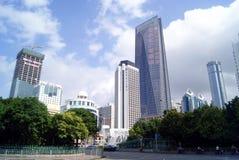 Фарфор Shenzhen: конструкция и дорога города Стоковое Изображение RF