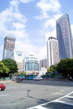 Фарфор Shenzhen: конструкция и дорога города Стоковые Фотографии RF